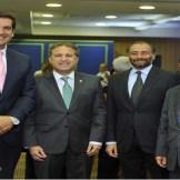 John Llanos, Gustavo Ariza, Lawrence Hazoury y Ramón Núñez Ramírez