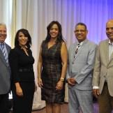 Alex Jiménez, Mildred Minaya, Yaira Cassó, Gustavo Olivo y Mario Méndez