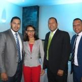 Michael Rosa, Awilda Peralta, Ramon Torres y Carlos Vinicio Moya