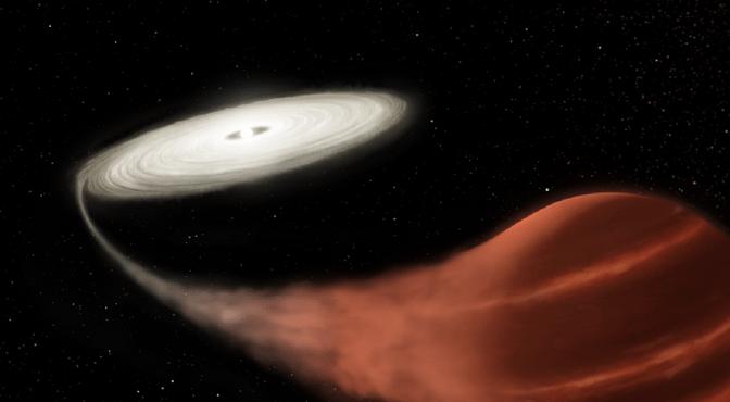 Ilustración de la nova enana captada por el observatorio espacial Kepler de la NASA.
