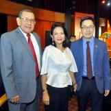 Hidalgo Gratereaux, Sukyien Sang y Zhang Buxin ministro consejero embajada.