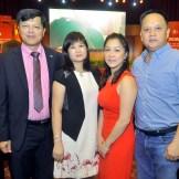 Dario Sang, presidente centro colonia, Rosa de Sang, Jenny Feng y Ricardo Ng.