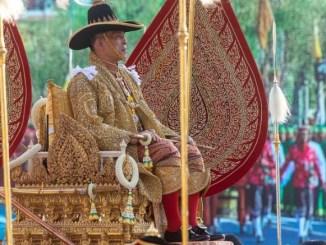 El rey de Tailandia, Maha Vajiralongkorn, conocido como Rama X