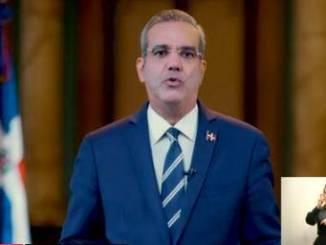 El presidente de la República, Luis Abinader, durante el discurso.