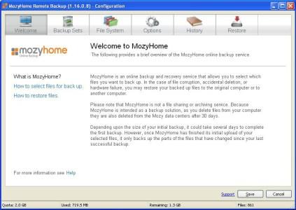 MozyHome - Backup