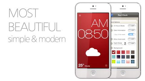 Red Clock Alarm