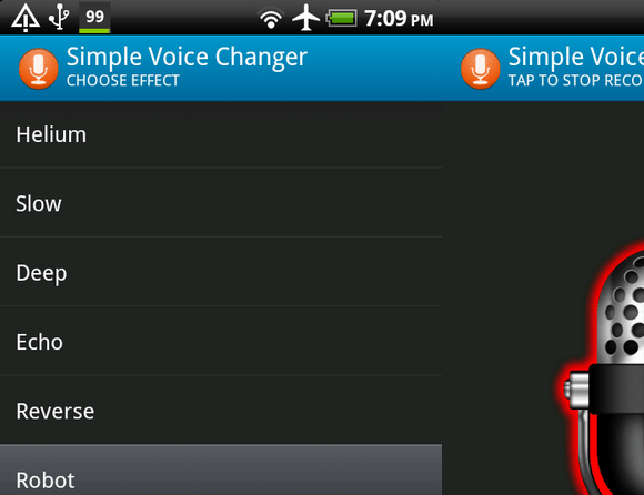 Cambiador de voz simple para Android