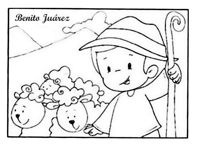 Dibujos para colorear de Benito Jurez