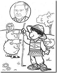 benito-juarez dibujo con ovejas