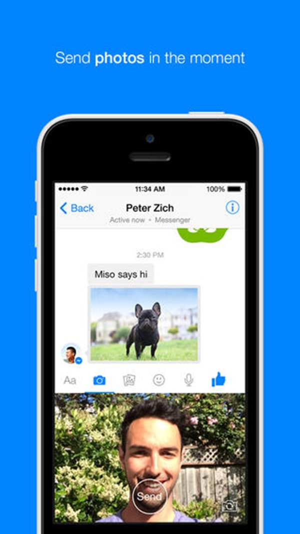 Facebook-Messenger-selfie
