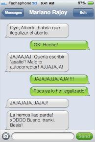 Conversaciones entre Gallardon y Rajoy