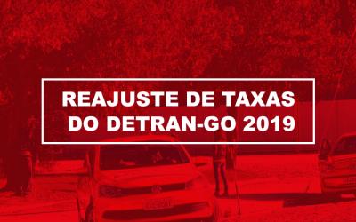 Taxas do Detran Goiás são reajustadas em 2019.
