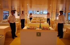 Mariscadas cena en el barco de o grove
