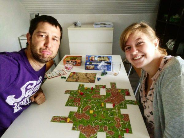 Foto Freya en Berten, ouders van de spellenspecialist