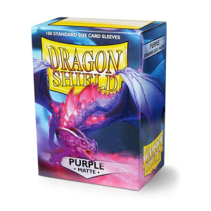 Sleeves Dragon Shield - Standard Matte Purple (100 stuks)