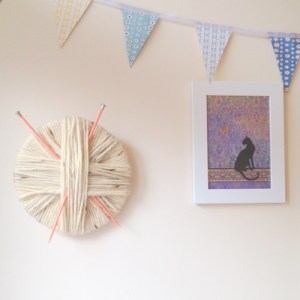 DIY Tutorial Yarn Wrapped Wall Art