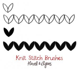 Free Knit-Stitch Photoshop Brushes