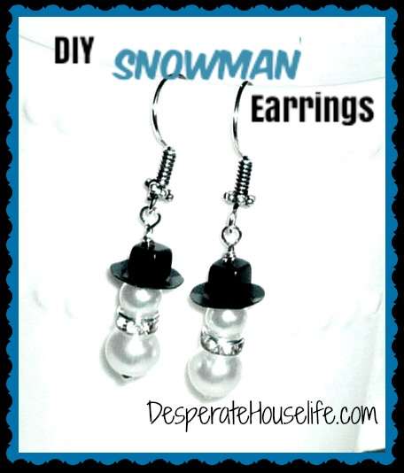 These adorable snowman earrings are a great DIY Christmas gift and an easy jewelry making project!
