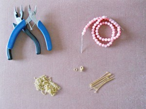 DIY Beaded Statement Necklace Materials