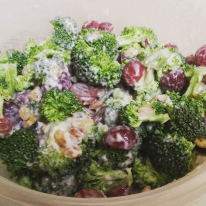 Broccoli Salad with Grapes and Walnuts Recipe