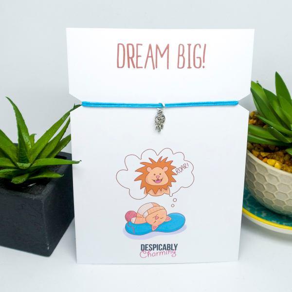 Dream Big Cat Print and Bracelet