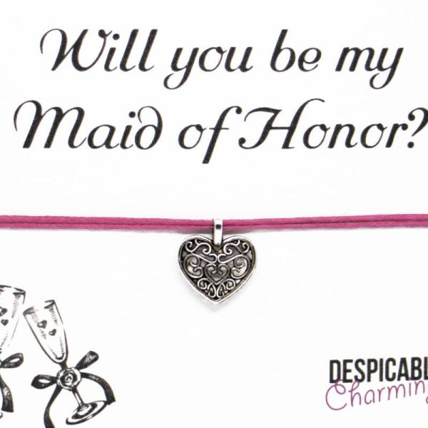 Will you be my Maid of Honor Bracelet - Bridesmaid gift - wish bracelet - Bridesmaid bracelet - Bridesmaid proposal - Bridesmaid thank you
