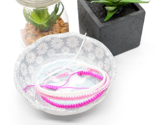 Pink Ombre Macrame Bracelet Set of 3