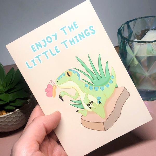 A6 Enjoy the little things print blank