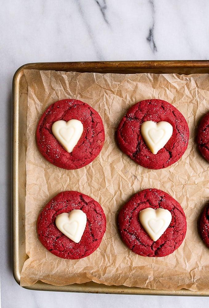 Red Velvet Sugar Cookies Recipe from Dessert for Two