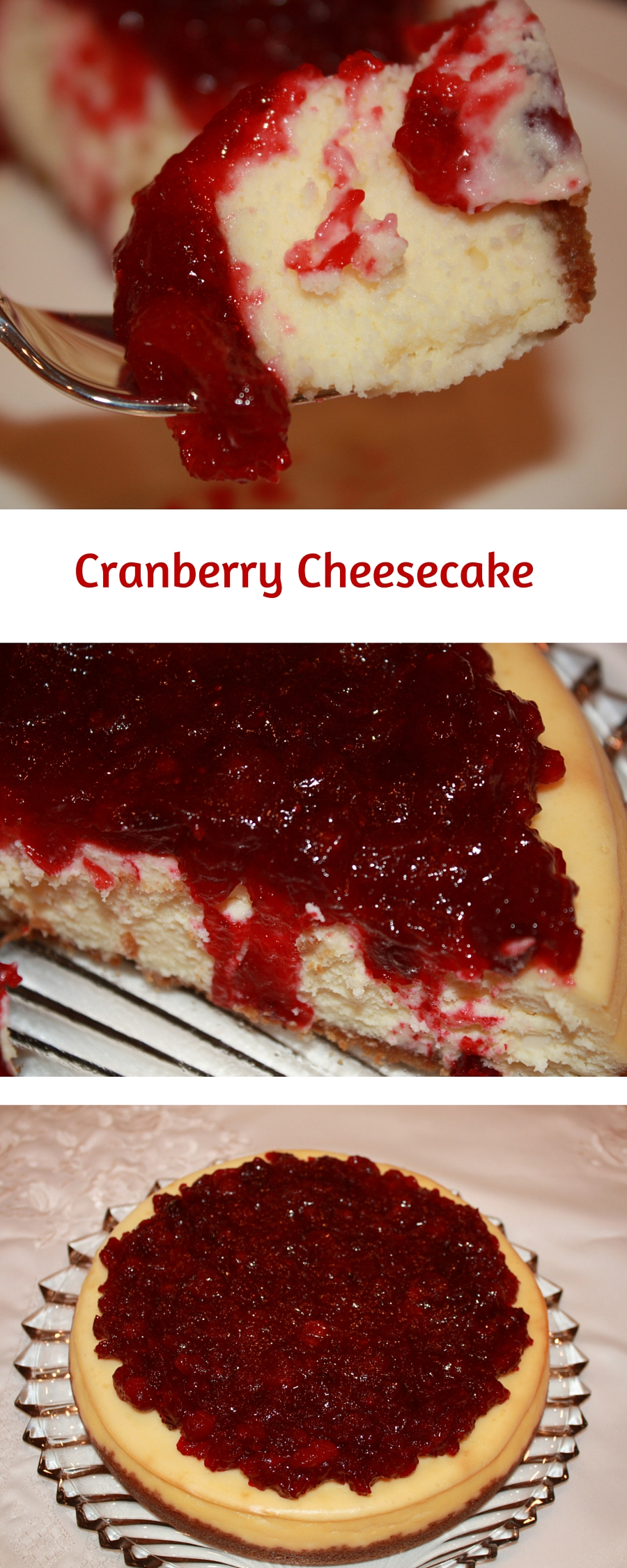 Cranberry Cheesecake is an elegant dessert for Thanksgiving or Christmas. It is also one of the easiest recipes you will make this holiday season.