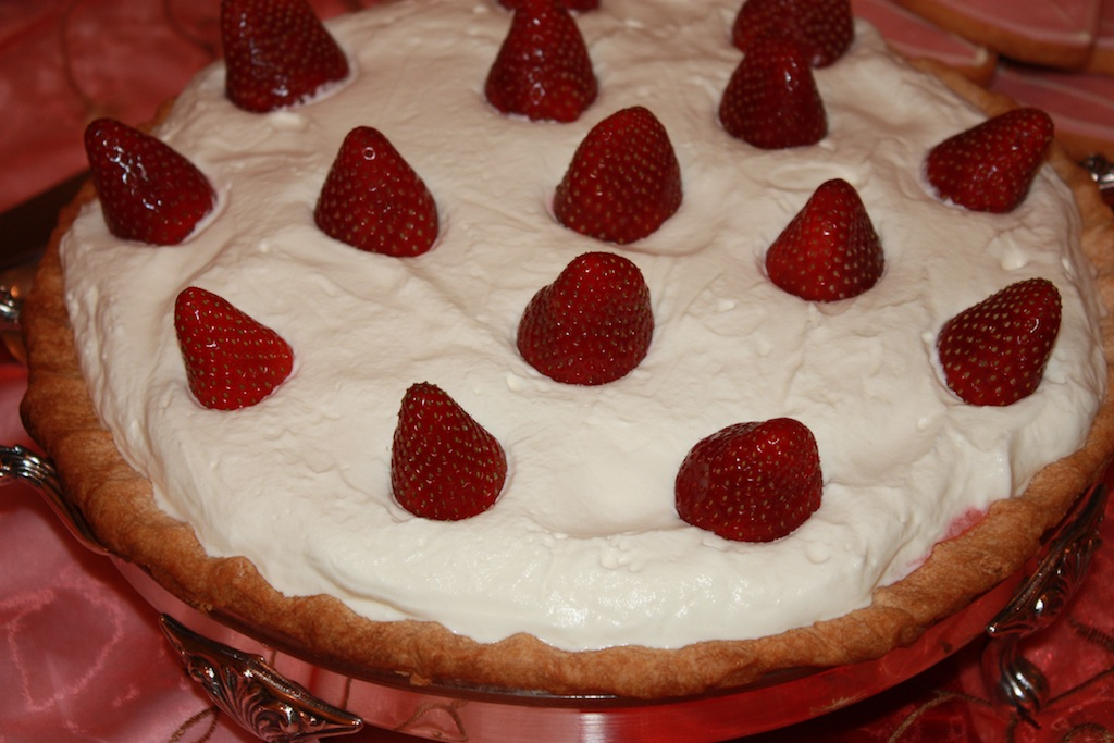Desserts Required's Mom's Strawberry Pie is the best. An easy recipe to make, just take it one step at a time. Bursting with berry flavor, whipped cream and cream cheese!