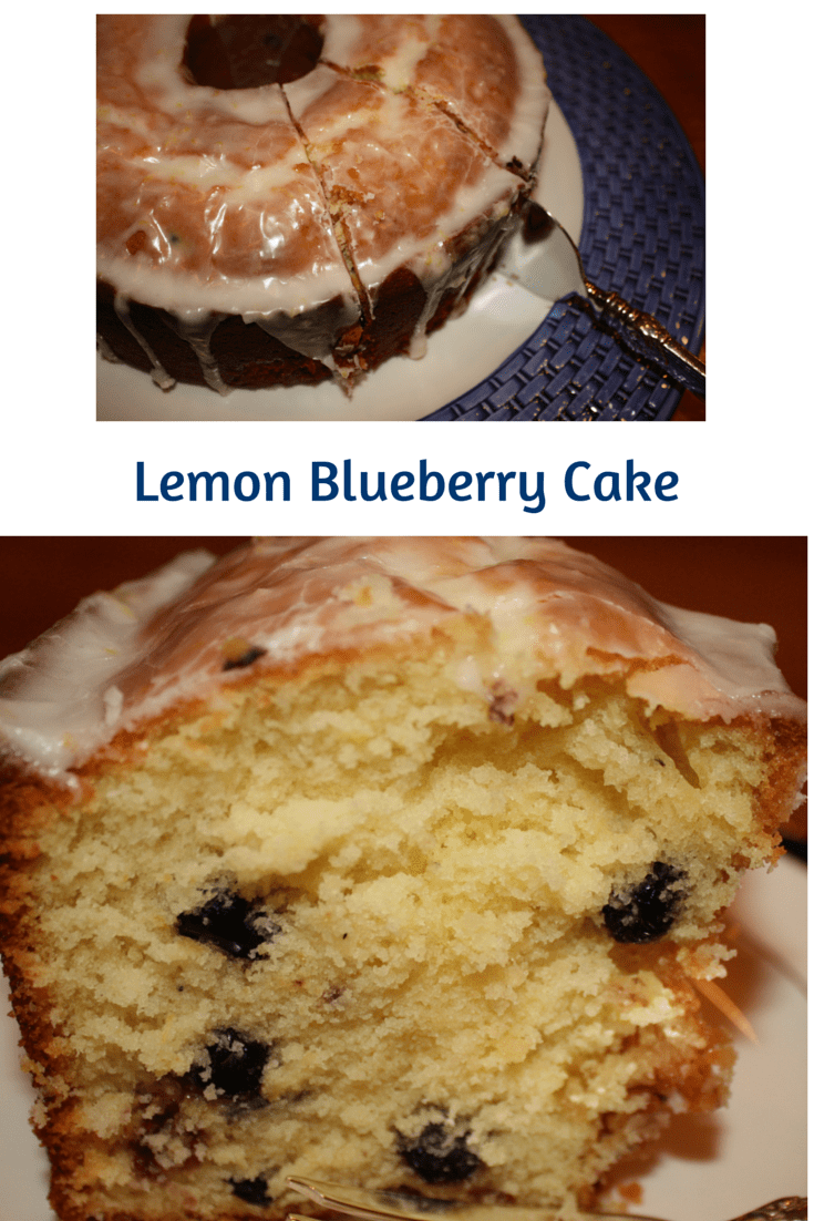 Lemon Blueberry Cake is much lighter than its pound cake version.  Dried blueberries are brought back to life with the bonus of a hint of cinnamon.
