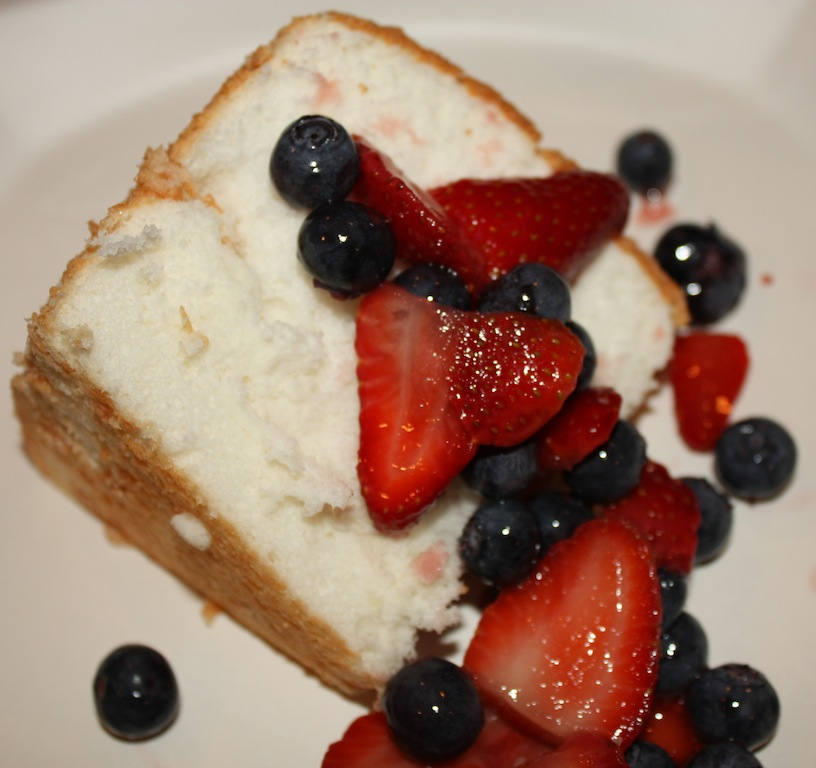 Desserts Required's Angel Food Cake is a heavenly cake that you have to try.  Serve with berries or by itself!