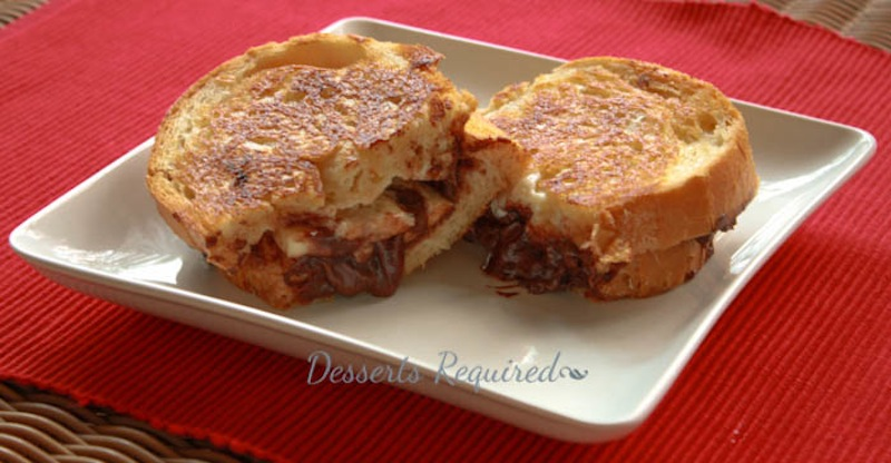Desserts Required - Grilled Nutella Banana Mascarpone Cheese
