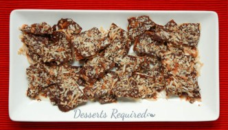 Desserts Required - Coconut Chocolate Toffee Matzo Crunch