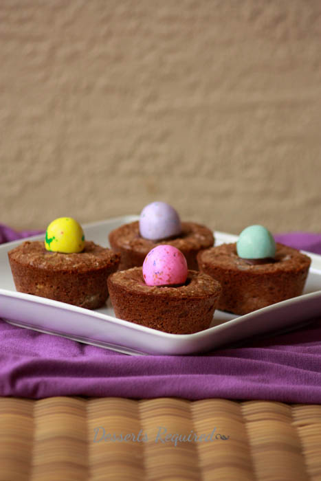 Desserts Required - Gooey Easter Brownie Cups