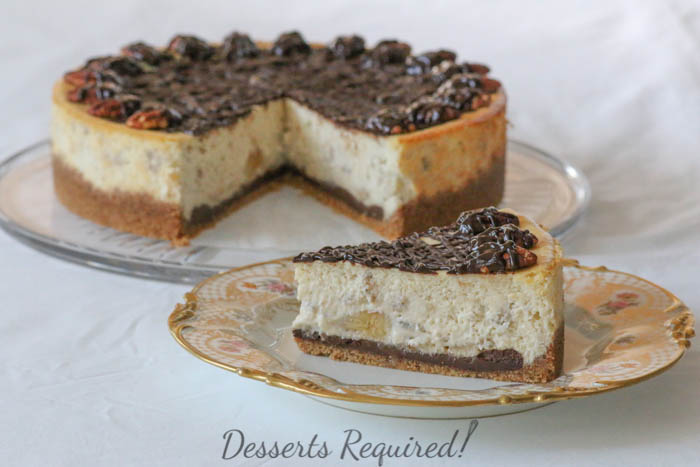 Desserts Required - Banana Cheesecake with Pecan Graham Cracker Crust