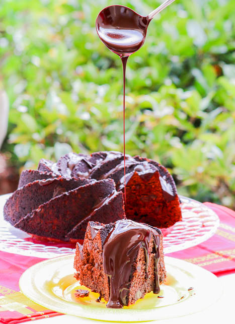 The chocolate mint topping elevates this Chocolate Mint Bundt Cake to a whole other category of yum! The step by step recipe guarantees success and beauty!