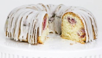 Coconut Lemon Raspberry Bundt Cake is an elegant cake that works beautifully in both a formal holiday setting and a casual get together. #christmasweek
