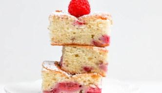 Raspberry Pound Cake Brownies
