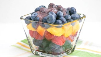 Blueberry Fruit Salad with Blueberry Dressing is refreshing and will be perfect on your dinner or picnic table. An easy recipe, too!