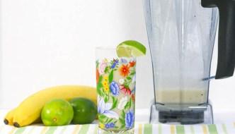 Coconut Banana Rum Smoothie  #SundaySupper