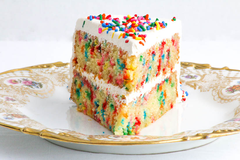 Gluten Free Confetti Cake - there is something magical about this cake. Loved by both kids and adults, it magically disappears in the blink of an eye!
