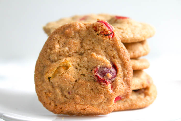 M & M Autumn Spice Cookies combine the warm flavors of the season with a favorite chocolate candy to create a delicious must eat cookie.