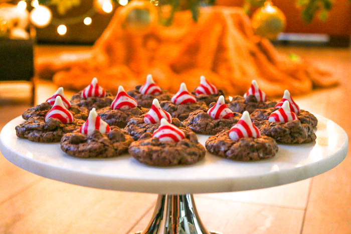 Peppermint Kiss Cookies have very quickly become my latest addiction. Take advantage of the candies while they are in stores for the holiday season.