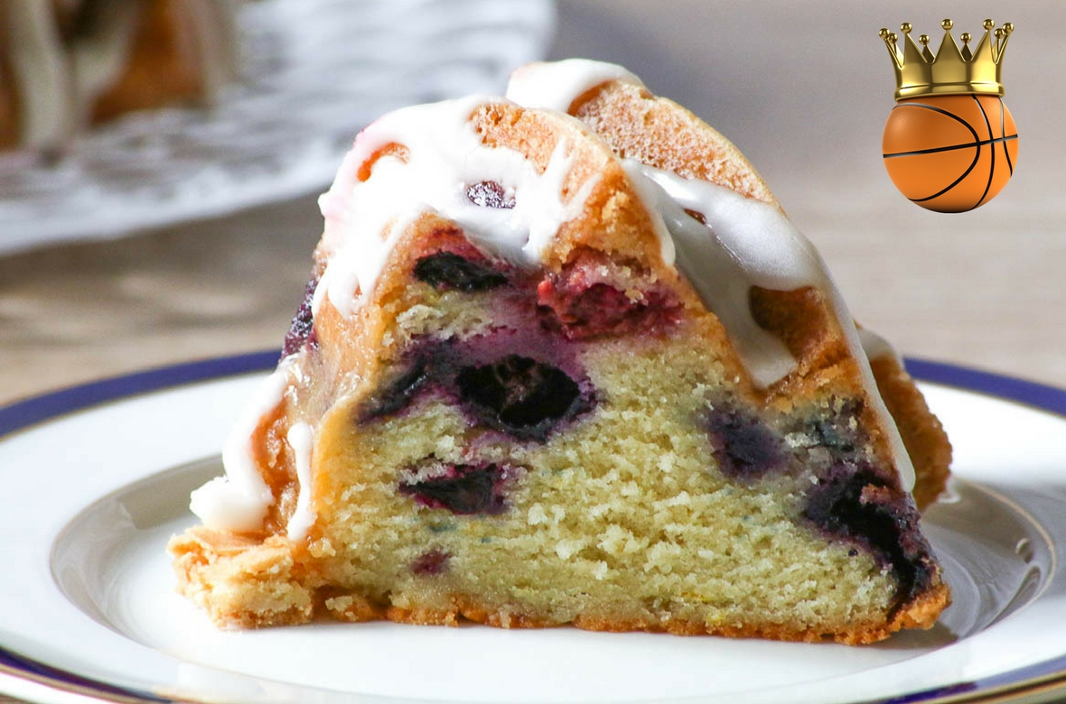 Raspberry Blueberry Bundt Cake is a beautiful and delicious cake that will elevate your March Madness party to a whole new level! #CKMondavi