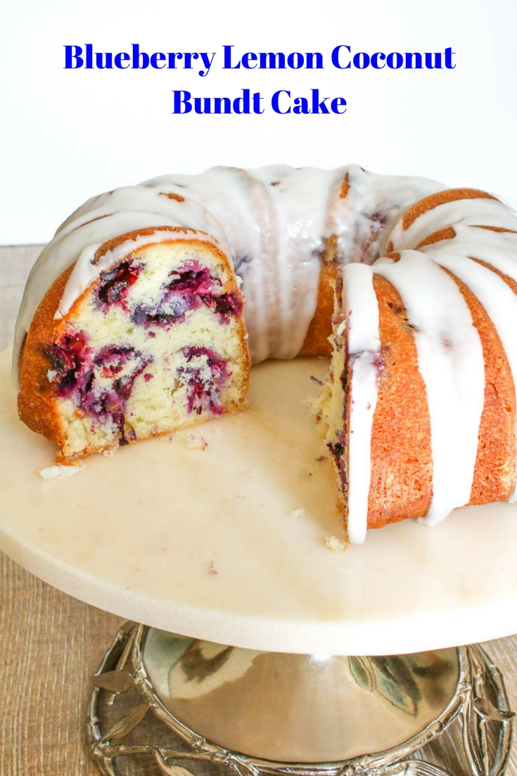 Blueberry Lemon Coconut Bundt Cake takes full advantage of the gorgeous berries at the peak of their season. Yumminess at its best.