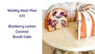 Weekly Meal Plan #31