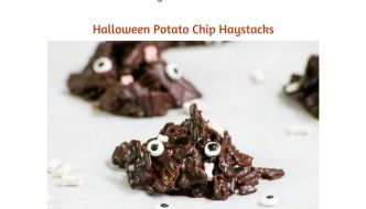 Weekly Meal Plan #43 is filled with great options for breakfast, lunch and dinner. Check out the Halloween Potato Chip Haystacks for a fun dessert & snack!