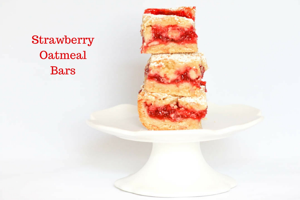 Strawberry Oatmeal Bars are a wonderful way to take advantage of Florida Strawberries. Perfect for dessert or to enjoy as a snack.